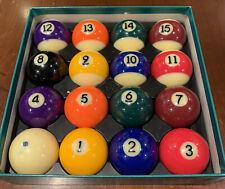 """Vintage Aramith Premium Pool Balls Set 2 1/4"""" Used"""
