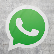 Whatsapp Decal Sticker Calcomania Laptop Car Messenger Emoji App Logo