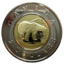 🇨🇦 2005 🏈 Canada 2 (Two) Dollars $2 Coin, Toonie Polar Bear Bi-Metallic, 2005