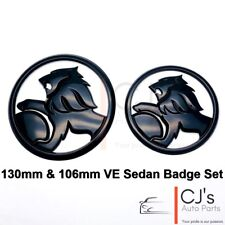 Holden Lion Gloss Black Front Rear Badge Fits VE SS SSV SV6 Commodore SEDAN