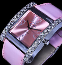 Jay Baxter Uhr Damenuhr Armbanduhr Glanz Rosa Strass B-Ware