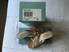 Ravel ladies beige strappy leather shoes (size 5)