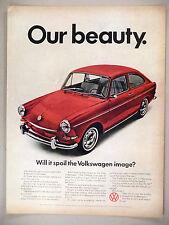 Volkswagen VW Fastback Sedan PRINT AD - 1967