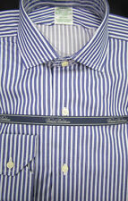 Brooks Brothers Luxury Split Stripe Shirt Extra Slim Fit Milano 15.5 x 33 $185