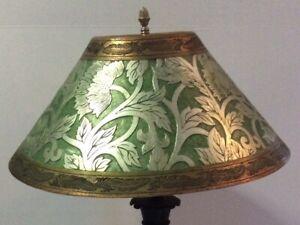 Vintage Table Lamp - Bronze Base