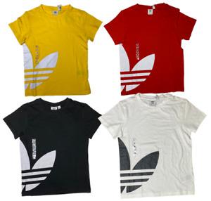 Boys Adidas Big Trefoil T-shirt - Black, Red, White, Yellow - NWT