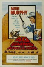 40 GUNS TO APACHE PASS Movie POSTER 11x17 Audie Murphy Michael Burns Kenneth