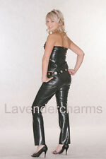 Lavender Latex Rubber Catsuit Gummi Top & Pants