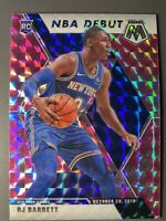 Rj Barrett Rookie Card Panini Mosaic Pink Mosaic Prizm 2019-20 New York Knicks