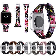 22mm Genuine Leather Watch Strap Wrist Band fr Samsung Galaxy Watch 46mm/Gear S3