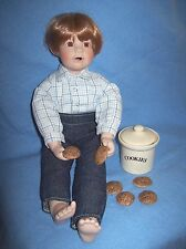 "Danbury Mint/ Elaine Campbell Porcelain Doll ""Kids In The Kitchen Peter"""