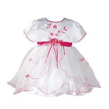 Bebé Niña Bautizo Vestido de Fiesta Lila Rosa Blanco Rojo 0 3 6 9 12 18 Meses