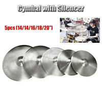 Low Volume Quiet Silent Cymbal Pack 5pcs with Bag 14''/14''/16''/18''/20''
