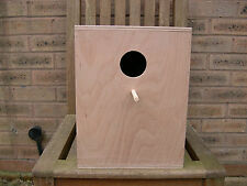 """12"""" x 10"""" x 10"""" Cockatiel Parrot Nest Box Hinged Side - 9mm H/Wood Plywood"""