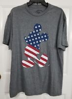 New W/O Tags Men's Disney Mickey Mouse Flag Short Sleeve Shirt Size L Large