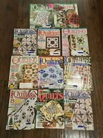 Lot 11 Quilting Magazines McCall's Quilting Quick Quilts 1997 to 2009 Bundle