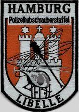 Polizei Abzeichen Polizeihubschrauberstaffel HAMBURG Libelle Helicopter Patch