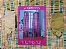 Xhilaration Window Panel: Plaid Blue green SEERSUCKER Drape Curtain NEW