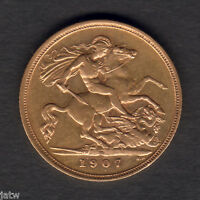 Australia.  1907 Melbourne - Half Sovereign..  Part Lustre..  aVF/VF