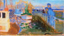 Daniel du JANERAND (1919-1990) HsT Années 50' Nle Ecole de Paris Jeune Peinture
