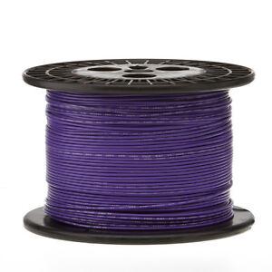 """18 AWG Gauge Solid Hook Up Wire Violet 250 ft 0.0403"""" UL1007 300 Volts"""