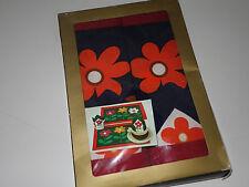 2 Tischsets Pril Blumen Sets Deckchen + 2 Servietten 60er vintage OVP