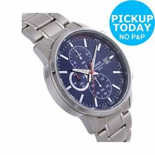 Lorus Men's Stainless Steel Strap Chronograph Watch - Blue Dial. From Argos