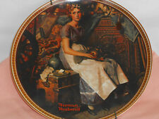 Norman Rockwell china plate Dreaming in the attic by Knowles