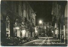 SALUZZO - VIA SILVIO PELLICO - NOTTURNO (CUNEO) 1955