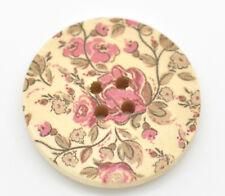 10 Botones de Madera Flor Delicada Tarjetas De Costura Acolcha 30mm
