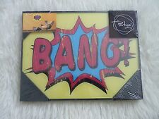 Retro glass words Wall art Bang Pop The port.co gallery New sealed Framed print