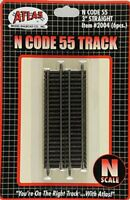 """Atlas 2004 N Scale Code 55 3"""" Straight Track 6 pack New Free Shipping"""