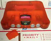 Nintendo 64 Orange Fire N64 Orange Fire Funtastic Console Works Perfect Nice