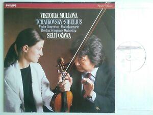 MULLOVA PLAYS TCHAIKOVSKY & SIBELIUS VIOLIN CONCERTOS BSO OZAWA PHILIPS 416 821