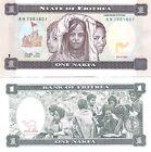 Ocasión. Magnífico billete SIN CIRCULAR de ERITREA. 1 Nakfa. Año 1997 (P-1) UNC