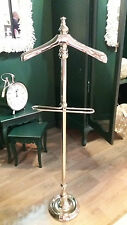 Highly Polished Silver Nickel Chrome Valet Stand