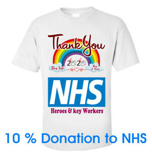 THANK YOU NHS & KEY WORKERS T-Shirt TEE 10% Sales Goes To NHS Charity