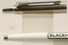 Vintage (2003) Parker Jotter White Ballpoint Pen, Advertising Black & Decker