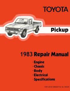 1983 Toyota Pickup Shop Service Repair Manual Book Engine Drivetrain OEM