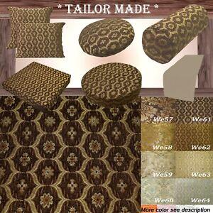 We61 -Dk Brown Gold Eye Flora Damask Bolster Case/Pillow/Sofa Seat Cushion Cover