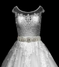"Bridal ""Anastasia"" Diamante Rhinestone Crystal Applique Wedding Belt Costume"