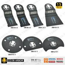 15 Blade 7 Type Oscillating Multi Tool Saw Blade Kit Compatible With Bosch DB-K7