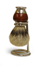 Top Grade Silver Tip Badger Hair Shaving Brush with Wood Handle and Holder