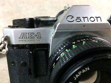Canon AE-1 35mm SLR Film Camera with FD 50 mm f1.8 lens Vtg Program