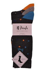 Mens Pringle 3 Pack Socks Enzo Charcoal L7025
