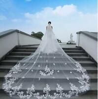 Wedding Lace Veils Cathedral Length Bride Bridal Accessories Long Veil With Comb