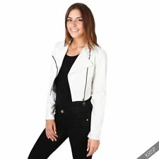 Patternless Casual Punk Coats & Jackets for Women
