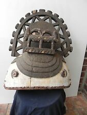"Arts of Africa - Igbo - Ibo 2 Face Helmet Mask  - Nigeria #2 21"" Height x20 wide"