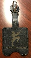 VINTAGE 80s CHATEAU MARMONT HOTEL GIFT SHOP LEATHER BADGE ID HOLDER