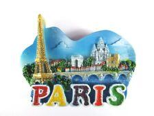 Paris Magnet Reise Souvenir France,Eiffelturm,Notre Dame,Arc de Triomphe,Glitzer